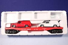 K Line O / 027 Scale Anheuser-Busch Beer Flat Car w/ Sport Trucks & Labels 69005