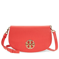 Tory Burch Jamie Leather Clutch - Cherry Apple