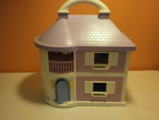 Blue Box Hello Kitty Carry  Along Orchid & White Dollhouse-Lights work