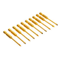 10pc Porcelain Tile Mirror Ceramic Drill Bits Set 4mm Slotted Spear Head