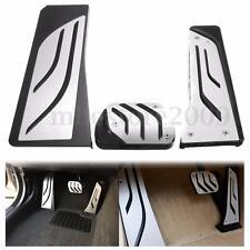 LHD Gas Brake Footrest Foot Pedals Pad For BMW 5 6 7 Series AT LHD F10 F11 F12
