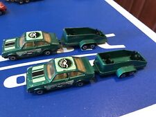 MATCHBOX TWIN PACK TP-7 #9 FORD ESCORT RS2000 GREEN + GLIDER TRAILER SEAGULL V.1