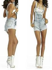 NWT Nicki Minaj Shorts Suspender Romper Denim Jumper Jumpsuit Overall 9/10