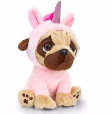 NEW Keel Toys Pugsley Pug Dressed Up Soft Stuffed Toy Dog Baby Pink Unicorn 20cm