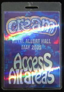IMPOSSIBLY RARE Cream 2005 Royal Albert Hall UK All Access Pass Laminate Clapton