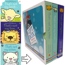 That's Not My Lion,Kitten,Lamb Collection 3 Books Fiona Wat Gift Wrapped Slipcas