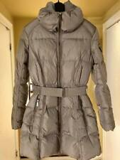 ADD DOWN TAUPE BROWN GRAY LONG PUFFER PARKA COAT WINTER WARM SIZE US 4 SMALL