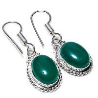 "Fantastic Green Onyx Handmade Ethnic Style Jewelry Earring 1.97"""