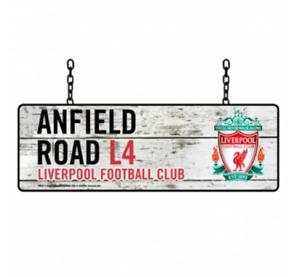 Liverpool FC Rustic Garden Hanging Street Sign