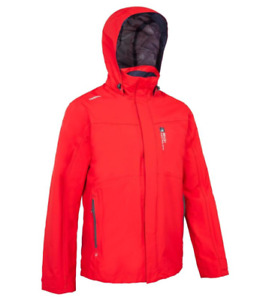 **BNWT** TRIBORD SAILING 300 MEN'S WATERPROOF SAILING JACKET - RED - SIZE XL