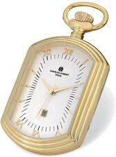 Charles Hubert Gold-Tone Finiah Open Face Rectangular Pocket Watch