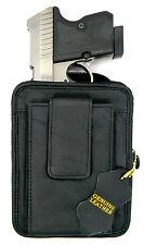 BLACK LEATHER CCW CONCEALMENT GUN PISTOL HOLSTER PACK - DIAMONDBACK DB380