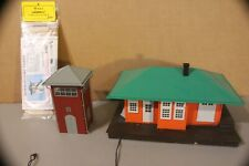 Lionel O gauge Station lite , MTH switch tower, tower wood kit Lot GG3