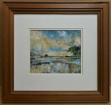 Glaslyn Estuary. Original mixed media by listed Welsh artist Howard Coles RCA