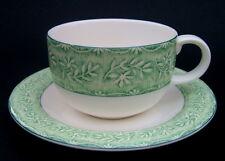 Royal Doulton ropa de patrón de hojas expresiones Colección De Té Tazas Y Platillos-VGC