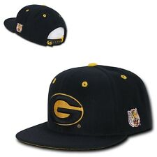 NCAA Grambling State University Flat Bill Accent Snapback Baseball Caps Hats