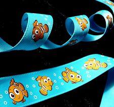 1 inch NEMO clown fish in Finding Nemo Dory ocean theme Disney grosgrain RIBBON