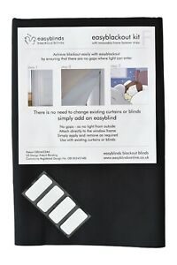 easyblackout blind kit with VELCRO® Brand self-adhesive attachments