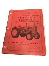 Massey Harris 55 Diesel Operators Service Manual Row Crop Standard Nice Tractor