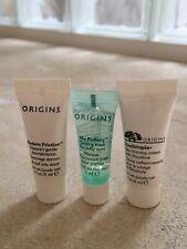 3 x Origins Travel Mini Set - Eye Mask 3ml Dermabrasion 5ml Youthtopia Cream 5ml