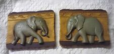 Pair Of Elephant Wall Plaques By Home Interiors