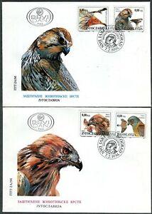 2648 - Yugoslavia 1994 - Protected Animals - Birds of Prey - Eagle - FDC