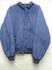 W3407 Towncraft Cotton Blend Blue Poly-Fill Zip/Snap Up Jacket Men XL