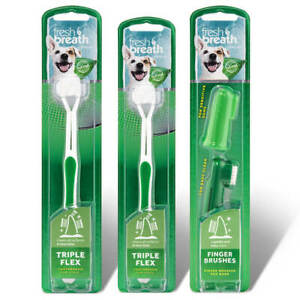 Fresh Breath by TropiClean Triple Flex Toothbrush For Dogs   Free Shipping