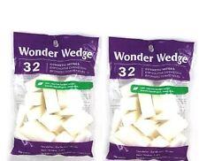 2X Wonder Wedge Cosmetic Make Up Sponges Latex Free Reusable 64 Count