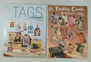 Tags Reinvented & Trading Cards Techniques & ATCs Paper Crafts Books Lot of 2