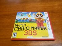 Super Mario Maker (Nintendo 3DS, 2016) CIB Complete TESTED 3DS 2DS Fast Shipping