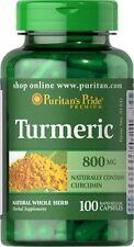 Turmeric 800 mg  brain health  natural whole herb 100 rapid release capsules