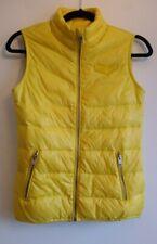 Ladies Diesel Down Puffer Vest Size 12 14 Bright Yellow Jacket Gilet Bodywarmer