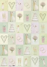 ROGER LA BORDE*Geschenkpapier 50 x 70cm*Wedding Tiers*Hochzeit**