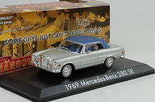 1969 Mercedes-Benz 280 SE toit souple argent Film Hangover 1:43 Greenlight
