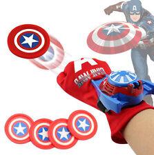 Captain america Disc Shooter Glove Kids Superhero Avengers Launcher Blaster Toy