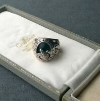 STERLING SILVER TURTLE RING ABALONE SHELL P  925 SOLID