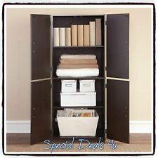 Tall Storage Cabinet Kitchen Cupboard Pantry Food Organizer Storage Shelf Wood