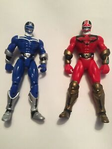 Rare Red Power Ranger Time Force Action Figure- Bandai 2000 Blue Red Mmpr Toys