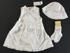 NWT Gymboree Garden Party Dobby Easter Dress Hat & Socks 12-18 Months
