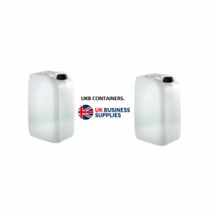 2x25L Litre Plastic Water Storage Container Food Petrol Can Fuel Jerry 25l