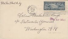 USA Vintage 1927 Airmail cover - Addressed to Col. C. LINDBERG  - see scan
