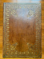 Rarity: Large 19 th. Century Gilt Embossed Solicitor's Leather Document Folder