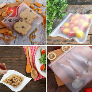 1/3/5Pcs Reusable Silicone Food Storage Bags Seal Sandwich Snack Lunch Fruit Bag