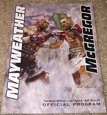 FLOYD MAYWEATHER JR CONOR MCGREGOR OFFICIAL FIGHT PROGRAM BOXING MAYMAC UFC B