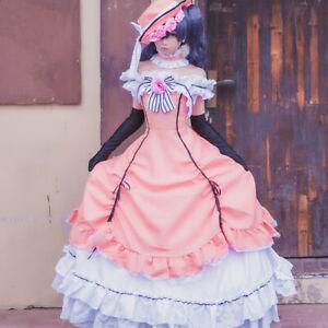 Black Butler Ciel Dress Hat Gloves Cosplay Costume Women Girls Halloween Outfit
