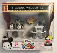 Disney Tsum Tsum Steamboat Willie Gift Set Mickey Minnie Walgreens Exclusive New