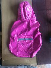 Pink Rain Mac Reflective Dog Jacket. Hi-Viz. Size XS-S