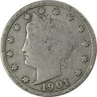 1901 Liberty Head V Nickel 5 Cent Piece G Good 5c US Coin Collectible