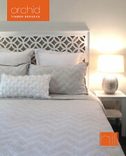 ORCHID Timber Bedhead for King Ensemble - WHITE